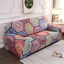 1/2/3/4 Sitze Elastic Stretch Sofa Sesselbezug Couch Schonbezug Bohemian Pattern Stretch All-Inclusive Sofabezug