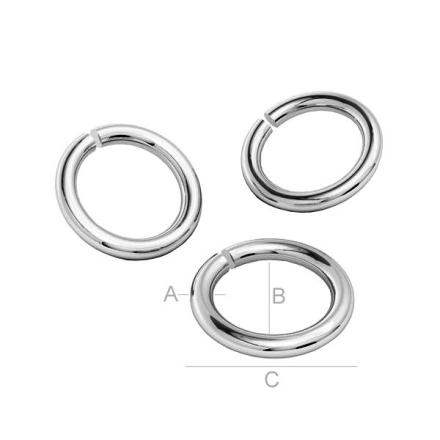 Bindringar 925 Silver - 7.6x0.8mm, 10-pack