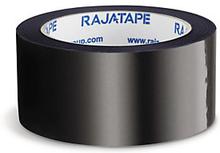 Farbiges PVC Packband RAJA, schwarz 50 mm x 66m