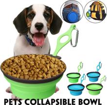 Faltbare & tragbare Haustier Hund Reisen Essen Wasser Schüssel