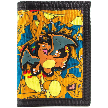 Pokemon Charizard No.6 brand mønt kort Tri-Fold tegnebog - Fruugo