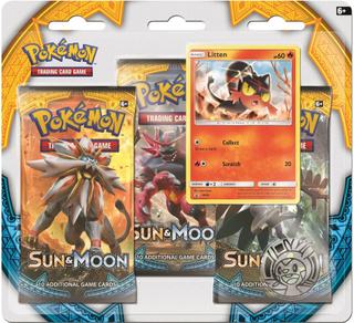 Poke Blister 3-pack, Sun & Moon 1, Litten, Pokémon