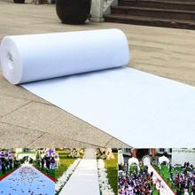 Weiß Hochzeit Teppich Gang Läufer Boden Ehe Zeremonie Braut Event 5 Größen