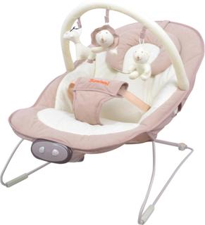 Baninni vippestol til baby Nina Mina beige og hvid BNBO008-BGER