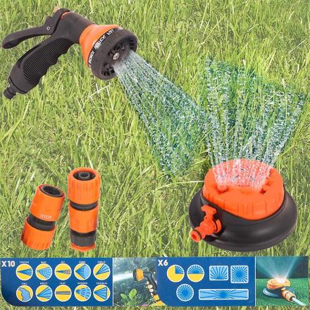 Hage vanningsanlegg slangen sprøytepistol & Sprinkler kontakt vanni...