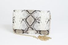 Stjernsund Handväska Ormmönster Snake Beige Väska