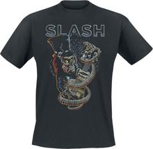 Slash - Guitar Skull -T-skjorte - svart