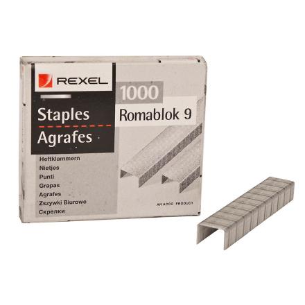 Acco Rexel Office lys plikt Staples - 13 x 9.4 mm - pakke med 1000