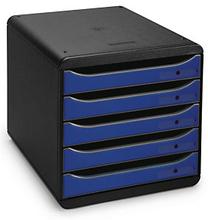 Schubladenbox schwarz/blau