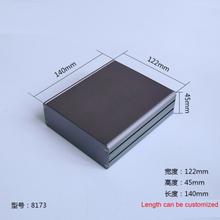 1 piece gray color aluminum housing case for electronics project case 45(H)x122(W)x140(L) mm 8173