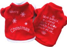 Haustier Hundekleidung Hund warme Kleidung Stickerei Weihnachten