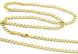 Halsband Äkta guld 14k Pansarlänk 4mm