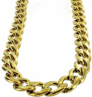 Halsband Guld Stainless steel Pansarlänk 14mm