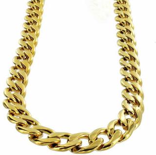 Halsband Guld Stainless steel Pansarlänk 12mm