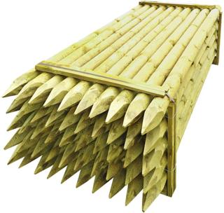 vidaXL hegnspæle tilspidset 50 stk. FSC imprægneret træ 10 x 240 cm