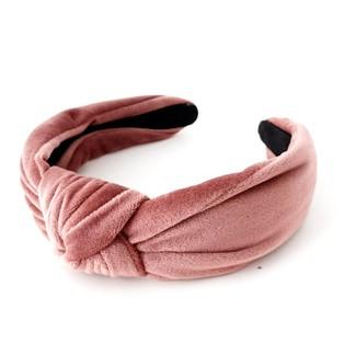 Hårbøyle velur knute - Dusty Pink