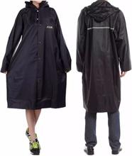 Adult Outdoor Regenmantel Long Poncho Hood Dicker Reflektierende Typen Design Arbeit Reisen Regenbekleidung