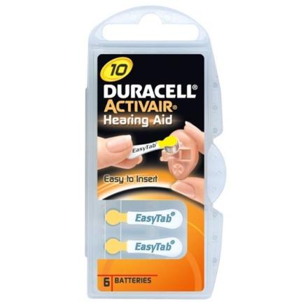 Duracell Batteri Activair 10, 6 st
