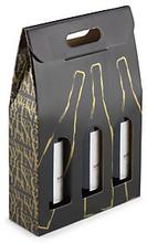 Flaschenverpackung Classic 3 Flaschen, 27 x 9 x 40 cm