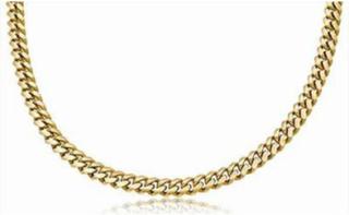 Halsband Äkta guld 14k Miami kedja 6mm