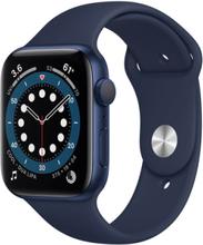 Watch Series 6 (6. Gen 2020) GPS 44mm Blå Gummirem Blå