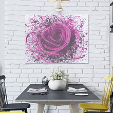 Lila Lime Rose Blume abstrakte moderne Bilder Leinwand Wand Kunstdrucke ungerahmt