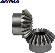 YIMAKER 2pcs 8mm 1:1 Bevel Gear 1 Modulus 20 Teeth With Inner Hole 8mm 90 Degree Drive Commutation Steel Gears Screw Hole M4