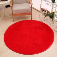 Rote runde Shaggy Teppich Lange Haare Faux Pelz dekorative Luxus Teppich Matte Teppich