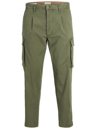 JACK & JONES Bane Cargo Akm 502 Olive Night Cargo Trousers Men Green