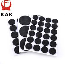 KAK 1-24PCS Self Adhesive Furniture Leg Feet Rug Felt Pads Anti Slip Mat Bumper Damper For Chair Table Protector Hardware