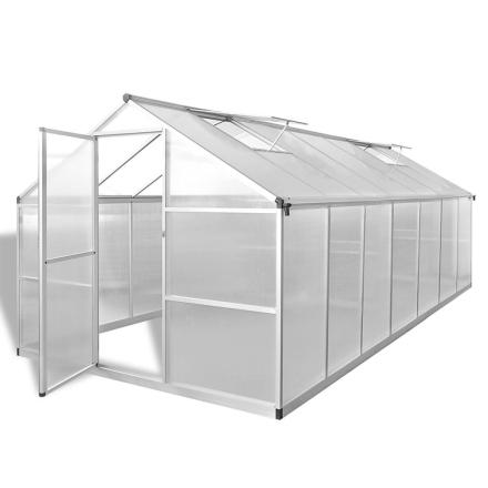 vidaXL Kasvihuone vahvistetulla alumiinirungolla 10,53 m²
