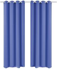 vidaXL Mörkläggningsgardiner 2 st med öljetter 135x245 cm blå