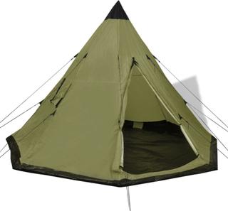 vidaXL 4-personers telt grøn