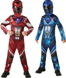 2 Power Rangers kostumer rød og blå
