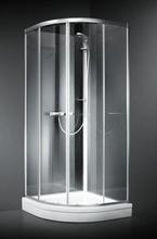 Dansani BASE afrundet brusekabine 90 x 90 cm med blank profil og frostet glas