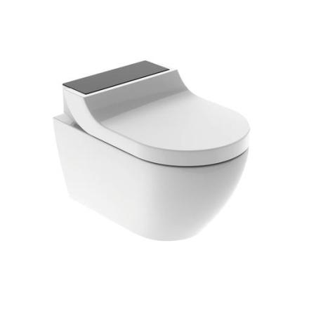 Geberit AquaClean Tuma Comfort væghængt toilet med bidetfunktion i sort glas