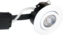 Nordtronic Low Profile Deluxe 33 indbygningsspot 6W LED i mat hvid