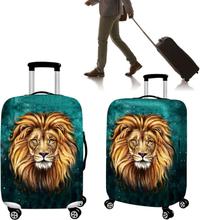 Reise-Löwe-Polyester-Gepäck-Beutel-Abdeckung staubdichte elastische Koffer-Abdeckung für 18-32inch
