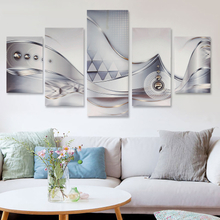 5 Stücke Leinwand drucken moderne Bild Wand Kunst Dekor abstrakte Blume Giclee gerahmt