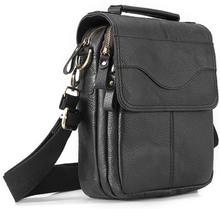 "Quality Leather Male Casual Design Shoulder Messenger bag Cowhide Fashion Cross-body Bag 8"" Tablet Tote Mochila Satchel 144-b"