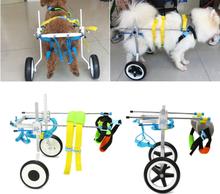 2 Größen Neue Einstellbare Aluminium Pet Rollstuhl Katzen Hunde Behinderte Hinterbeine