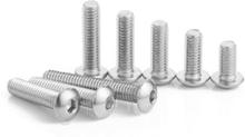 M5SH6 50 Stücke M5 Edelstahl Innensechskant Knopfschraube Schraube 8-30mm Optional Länge