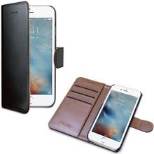 Celly Wally Wallet Case iPhone 7 Svart/Brun WALLY800 Replace: N/ACelly Wally Wallet Case iPhone 7 Svart/Brun