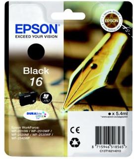 EPSON Bläckpatron svart (Epson 16), 175 sidor T1621 Replace: N/AEPSON Bläckpatron svart (Epson 16), 175 sidor