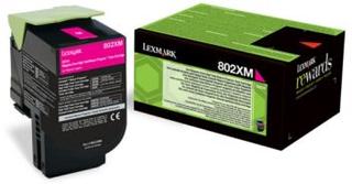 Lexmark Lexmark 802XM Tonerkassett magenta, 4.000 sider