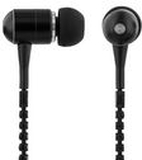 Hörlur+mic in-ear STREETZ Zip Svart