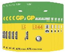 GP BATTERIES Knappcellsbatteri GP 76A-C1 / LR44 / LR1154 / AG13 (10-pack) GP-LR44-A76-10 Replace: N/AGP BATTERIES Knappcellsbatteri GP 76A-C1 / LR44 / LR1154 / AG13 (10-pack)