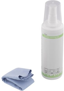 DELTACO Deltaco rengøringssæt med mikrofiberklud, 250 ml