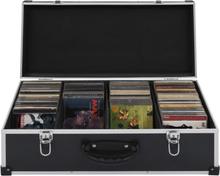vidaXL CD-koffert for 80 CD-er aluminium ABS svart