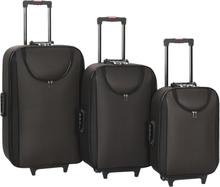 vidaXL Mjuka resväskor 3 st brun oxfordtyg